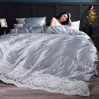 Washing zhen si ci xiu crafts Cotton Family of Four Simple Scandinavian AB Edition Enterprises Bedspread 4 Piece Set Wedding She