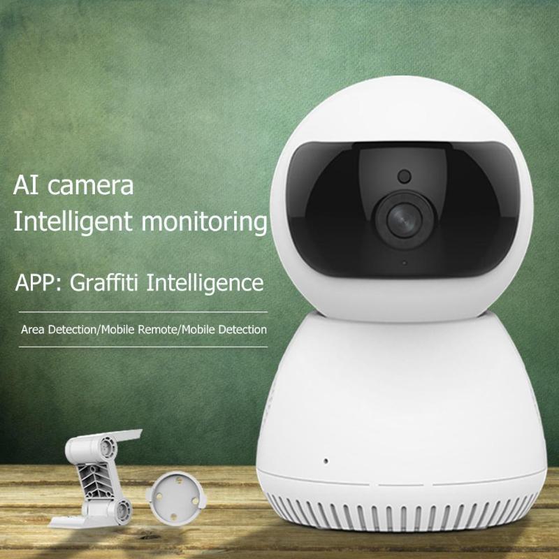 Webcams Audio bidirectionnelles AI caméra Web WIFI sans fil HD 1080 P 2MP Vision nocturne sécurité à domicile réseau CCTV Webcam livraison directe US