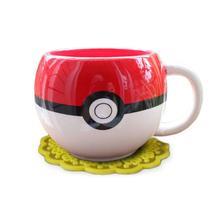 Pokeball Shaped Ceramic Mug