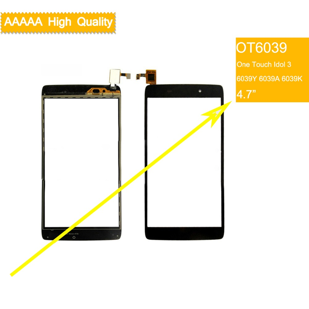 10Pcs lot For Alcatel One Touch idol 3 6039Y 6039A 6039K Touch Screen Touch Panel Sensor Digitizer Front Outer Glass Touchscreen in Mobile Phone Touch Panel from Cellphones Telecommunications