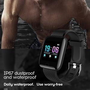 Image 3 - Inteligentny zegarek mężczyźni ciśnienie krwi wodoodporny Smartwatch kobiety tętna Tracker do monitorowania aktywności fizycznej zegarek sportowy dla Android IOS