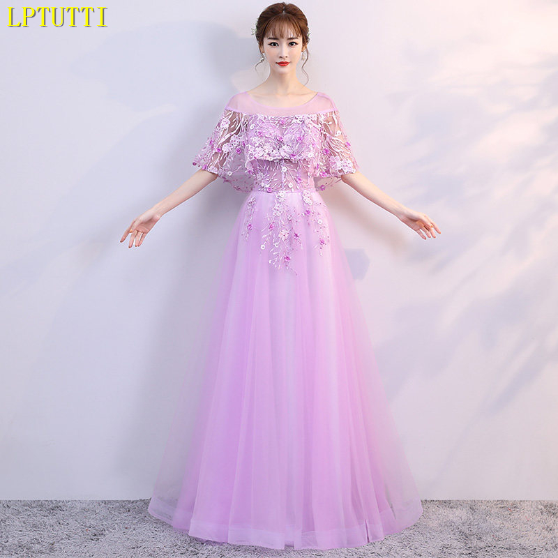 LPTUTTI Appliques Beading Gratuating New For Women Elegant Date Ceremony Party Prom Gown Formal Gala Luxury Long   Evening     Dresses