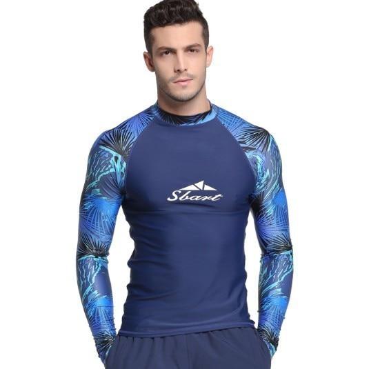 1f3128a1d3 Rashguard Men Long Sleeve Swimsuit Lycra Rash Guard Swimwear UV Mens Swim  Shirt Windsurf Surf Shirt Swimming Sailing Diving Suit