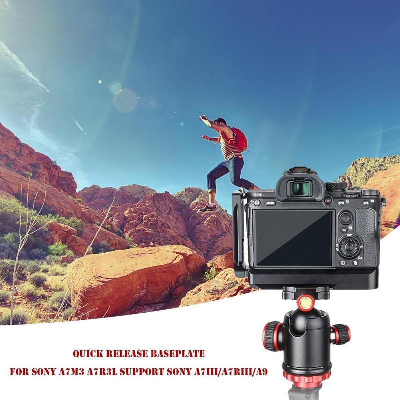 Vanpower caméra L plaque plaque latérale de Base à dégagement rapide pour Sony A7M3/A7R3/A9/A7III accessoires de caméra monopodes trépied en aluminium
