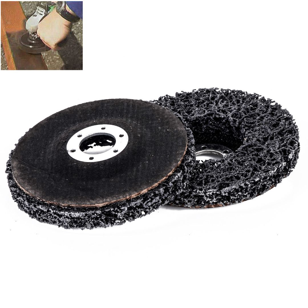 Newest 2pcs 115mm Poly Strip Abrasive Disc Wheels 46 Grits 22mm Rust Paint Remover 11500rpm Grinding Tools For Angle Grinder
