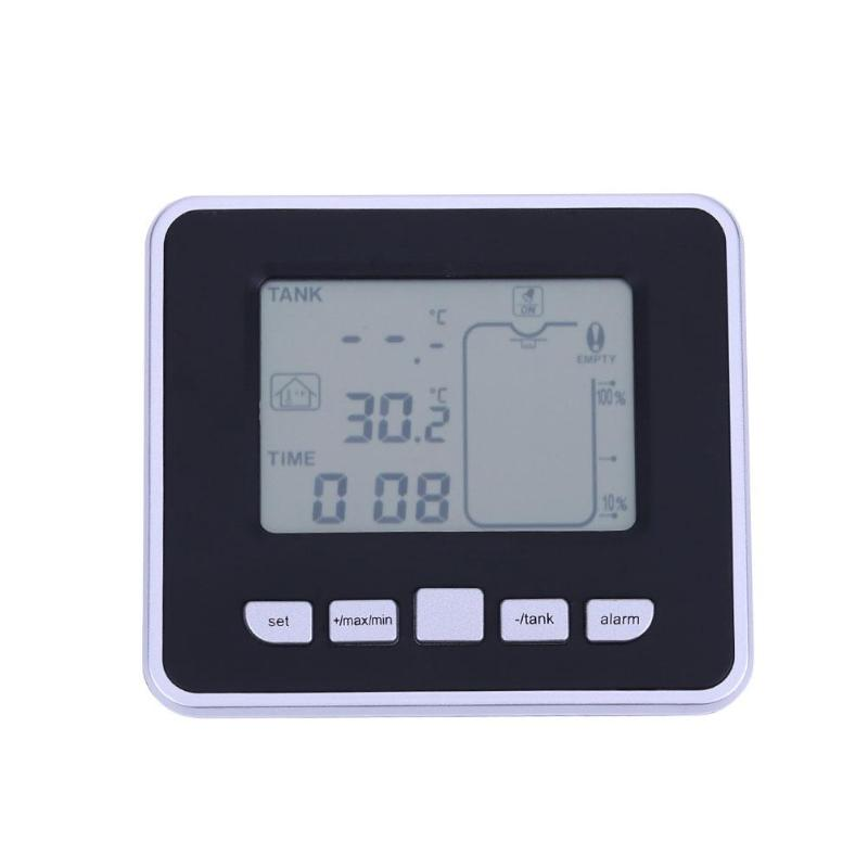 0 5M 15M Ultrasonic Wireless Tank Liquid Level Meter with Temperature Thermo Sensor ultrasonic Water Level