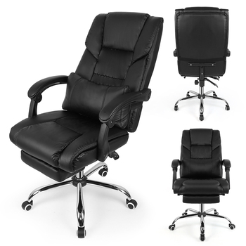 Black Lifting Chair Reclining Office Swivel Chair Home