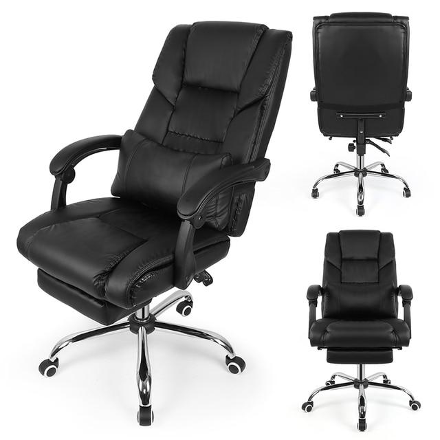 Negro elevación silla reclinable silla giratoria de Oficina Casa ...