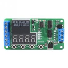 цена на Dual Channel 12V  Multi functional DPDT Delay Timer Relay Time Control Switch DR42A01