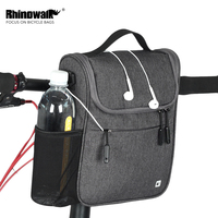 Rhinowalk 5L MTB Road Bike Front Tube Bag Multifunction Handlebar Bag Large Capacity Cycling Shoulder Bag with Waterproof Cover