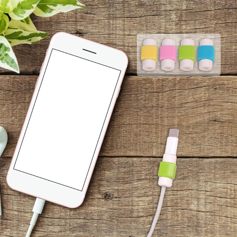 1 шт. USB кабель протектор Saver Наушники Шнур защиты провода крышка 8Pin случайный цвет данных зарядное устройство линии защитный рукав новый