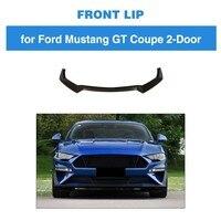 Front Bumper lip Spoiler For Ford Mustang 2 Door 2018 2019 Carbon Fiber Bumper lip Trim