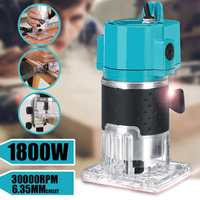 1300W 30000RPM 1/4''Corded Electric Hand Trimmer Wood Laminate Palms Router Joiners Carving Machine Wood Work Wood Power Tools