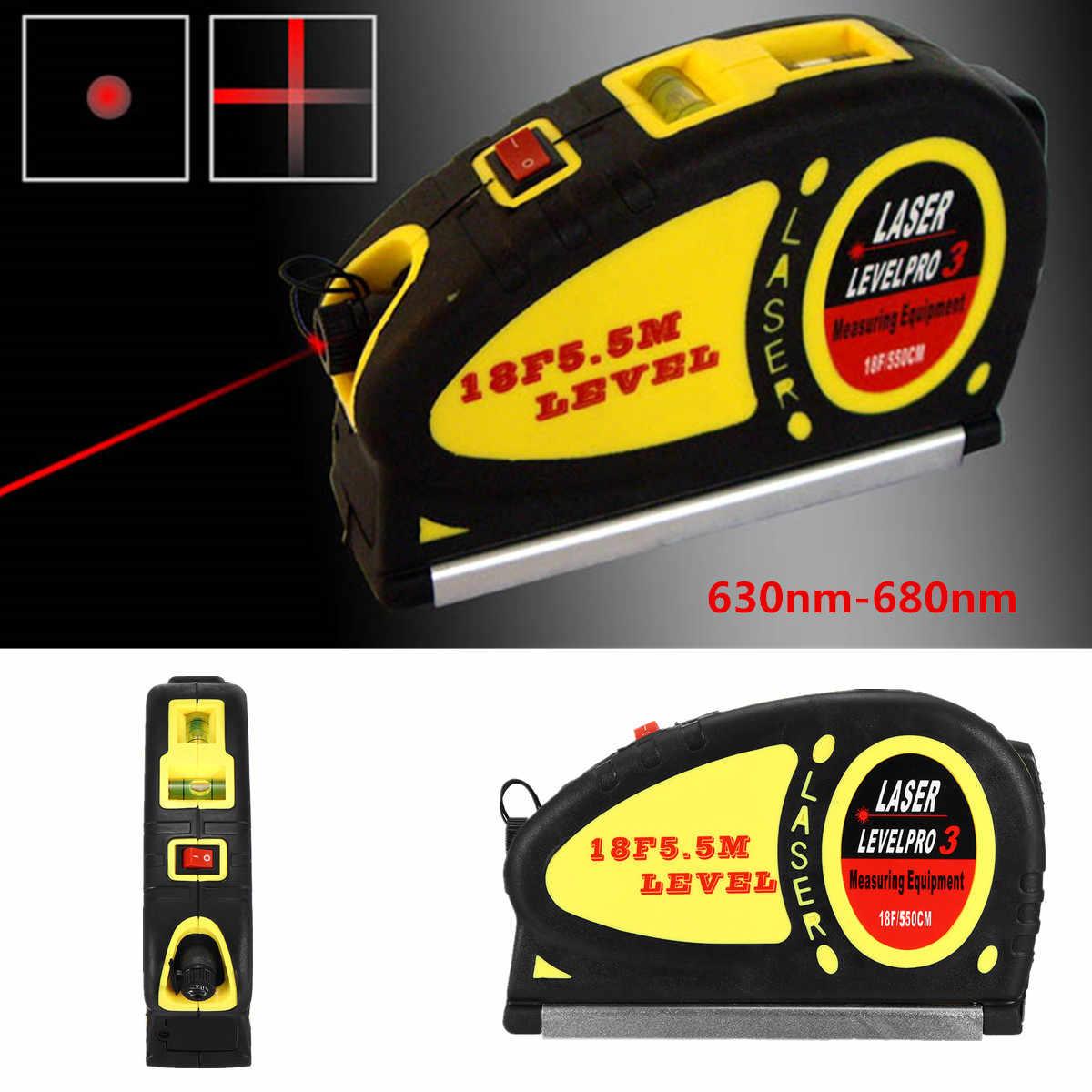 Четыре разных лазерный Стандартный 2 Way уровня пузырьков лазерный уровень линейка металлическая ABS + алюминиевый сплав 630nm-680nm световой диапазон 6-8 м