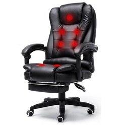 Oficina boss T-shirt Stoel Chaise De Bureau Ordinateur Sedia Ufficio Lederen Silla Cadeira Poltrona Gaming Massage Bureaustoel