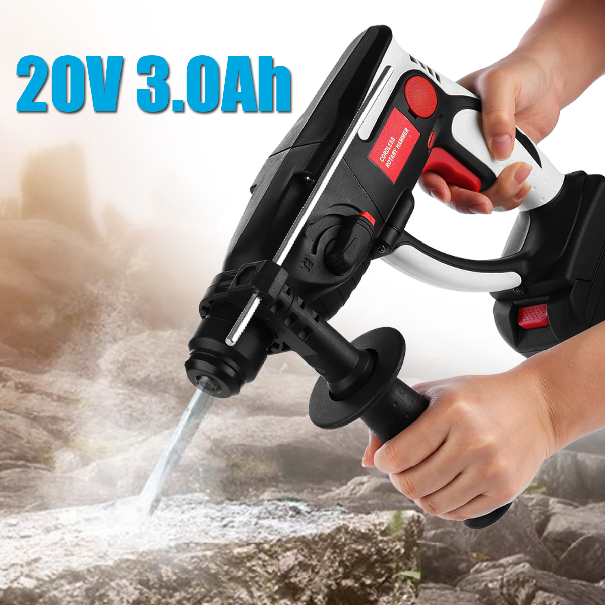 Rechargeable Lithium Battery Electric Cordless Drill Hammer Multi-function Electric Impact Drill Electric Screwdriver Power Tool 5 pcs rubber dust protective cover electric hammer ash bowl dustproof device impact shield hood drill power tool accessories
