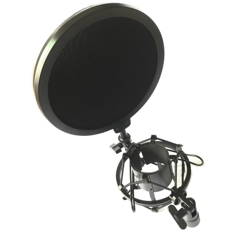 Original Professionelle Mikrofon Mic Shock Mount Mit Schild Gelenk Kopf Teleskop Höhe Mikrofon Halter Stehen Halterung Gesundheit Effektiv StäRken Mikrofonstativ Heimelektronik Zubehör