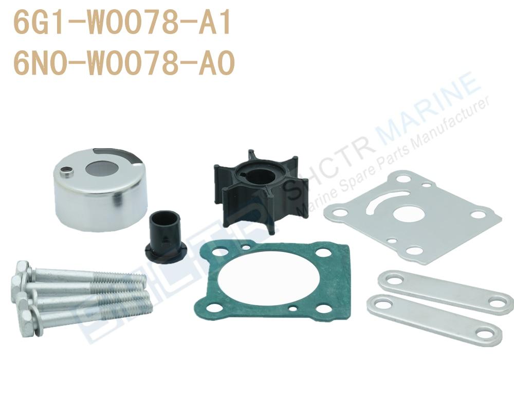 SHCTR Water Pump & Impeller Kit For OEM 6G1-W0078-A1 6N0-W0078-A0,Sierra 18-3460,6/8HP