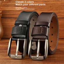 Luxury Split Leather Pin Buckle Belt