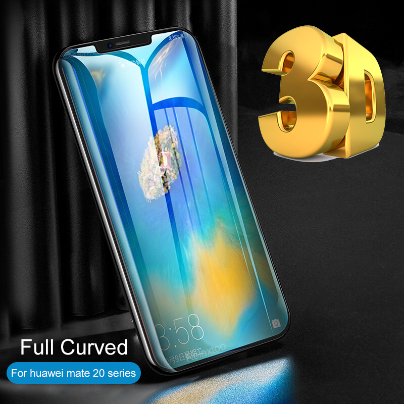 3D Full Curved Tempered <font><b>Glass</b></font> for <font><b>Huawei</b></font> <font><b>Mate</b></font> <font><b>20</b></font> Lite <font><b>Pro</b></font> Protective <font><b>Glass</b></font> mate20 light 20lite 20pro Glas Screen Protector Film image