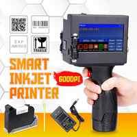 Plus récent écran LED Écran Tactile Imprimante Portative 600DPI USB Intelligents QR Code Jet D'encre Imprimante D'étiquettes De Haute Qualité Machine de Codage