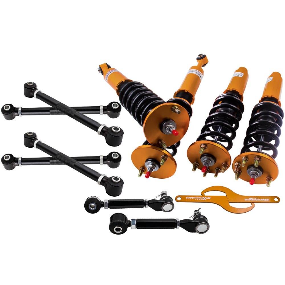 Комплект подвесных койловеров для 03 07 Honda Accord и 04 08 Acura TSX амортизатор стойки задние развал руки