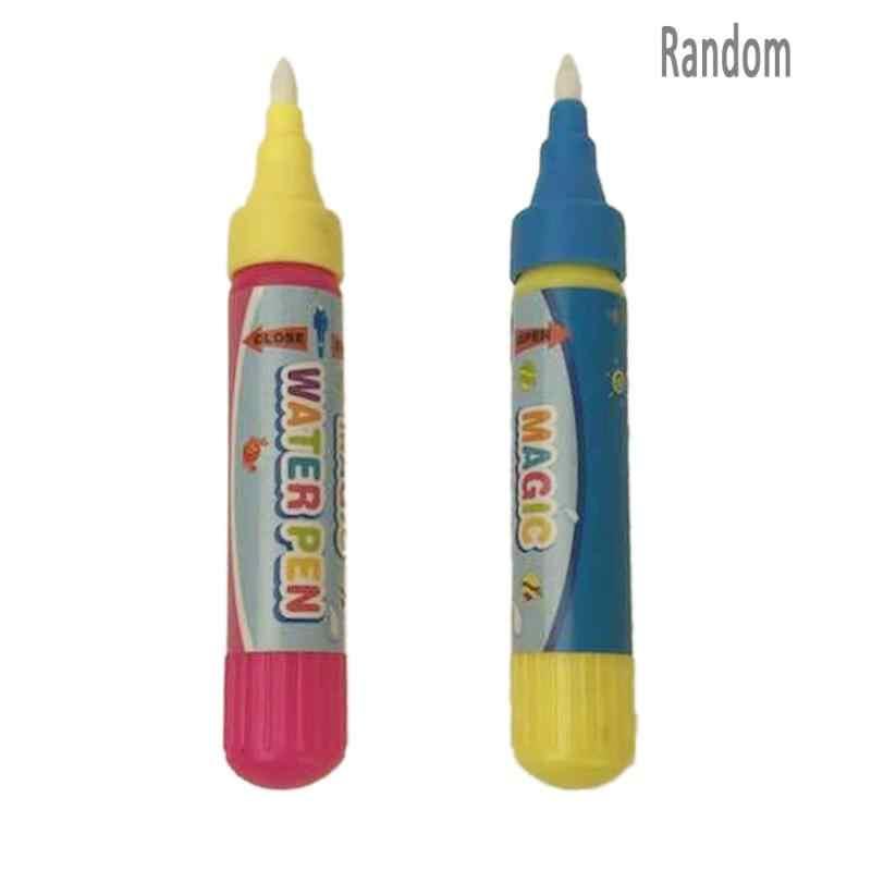 1 Buah Dapat Digunakan Kembali Air Sikat Pena Anak-anak Menggambar Sihir Mainan Air Grafiti Pena Tidak Beracun Jelas Air Lukisan Kain pena Mainan Bayi