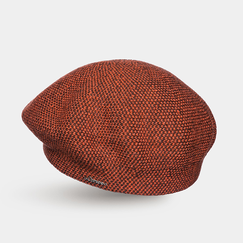 Hat for women Canoe 3450492 DAMS trendy pu leather solid color octagonal newsboy hat for women