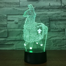 3D LED Night Light RGB Bulb Christmas Decorative Gift Cartoon Toy Party Touch Switch Crystal Crackle Table Lamp