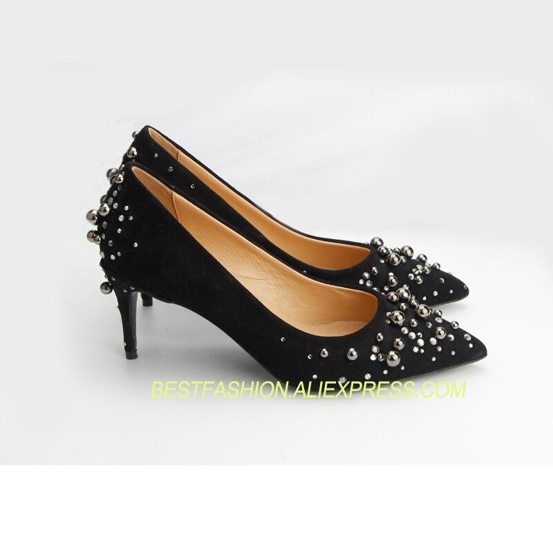 Tacón Zapatos Cuero Nuevo De Mujeres Alta Estilo Genuino Bombas Calidad Tacones Alto Altos Boda Para Las qATAPRw