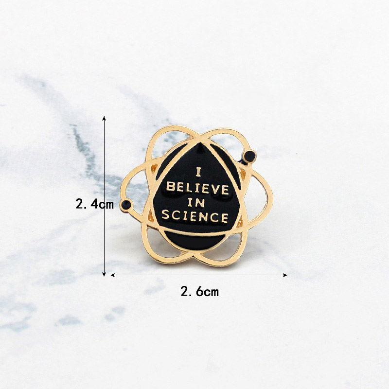 LNRRABC Fashion Planet Space Around Earth Science Brooch pin Around Earth Brooches Badge Fans Shirt bags brooch in Brooches from Jewelry Accessories