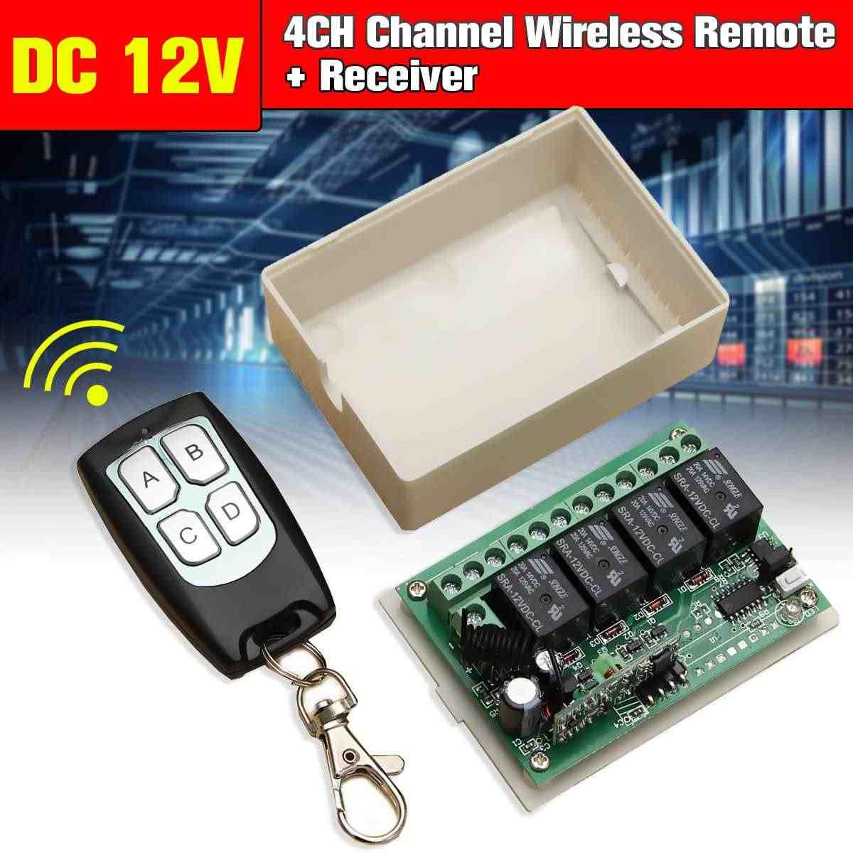 433mhz جهاز ريسيفر استقبال وإرسال وصول ل تيار مستمر 12 فولت 4CH قناة صغيرة لاسلكية للتحكم عن بعد راديو التبديل 200 متر حساسية عالية