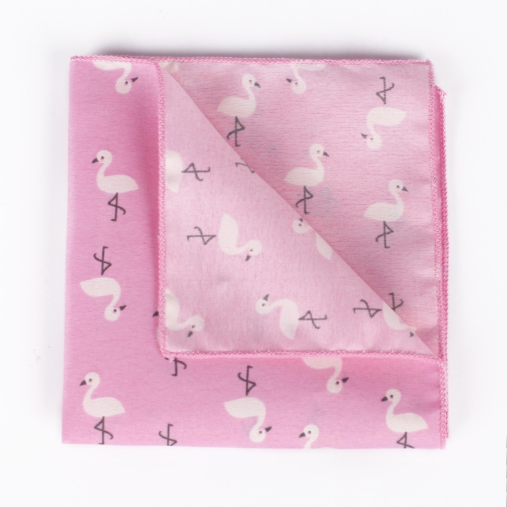 2019 New Men's Suit Pocket Handkerchief Cartoon Animal Print Square Scarf European And American Fashion