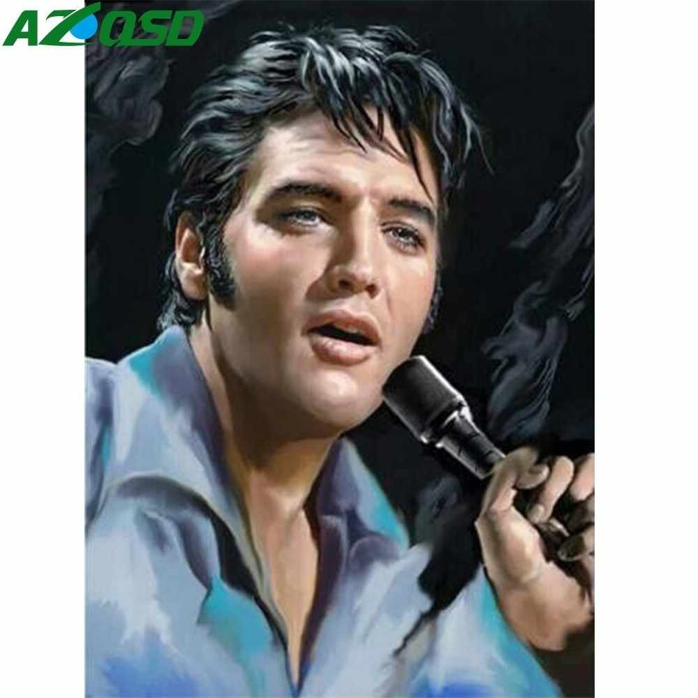 AZQSD Oil Painting By Number Elvis Presley Painting Drawing DIY Acrylic Oil Painting Canvas Pictures Abstract Home Decor SZGD041