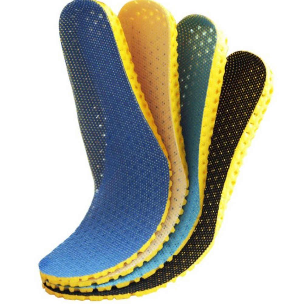 1 par Unisex desodorante zapatos plantillas ortopédicas memoria espuma deporte arco apoyo insertar mujeres hombres verano transpirable suelas almohadilla