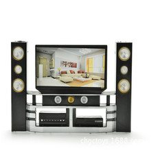 Mini 1:6 TV Home Theater Cabinet Set Combo For Doll Furniture Television Accessory Decoration House Furniture Baby Girl Toys цена 2017