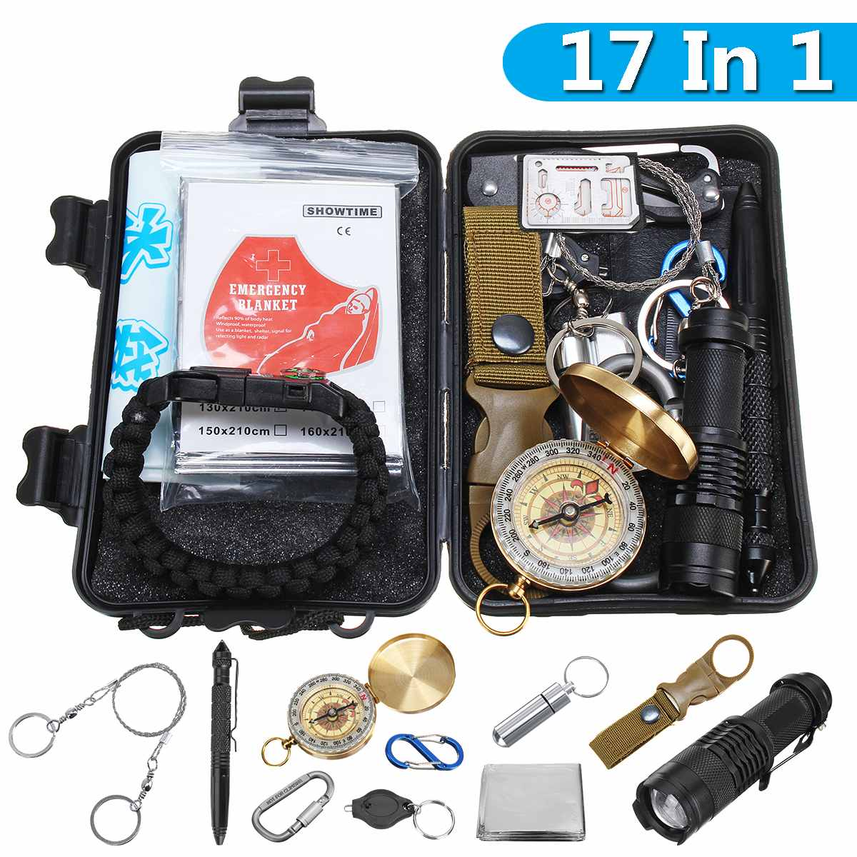 SOS Kit Outdoor Emergency Kit Equipment Box For Camping Survival Gear Portable