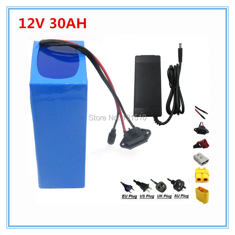 12v 30ah battery 12v 30ah lithium battery with 12.6V 3A Charger for street light / cctv camera 30A BMS Free Shipping