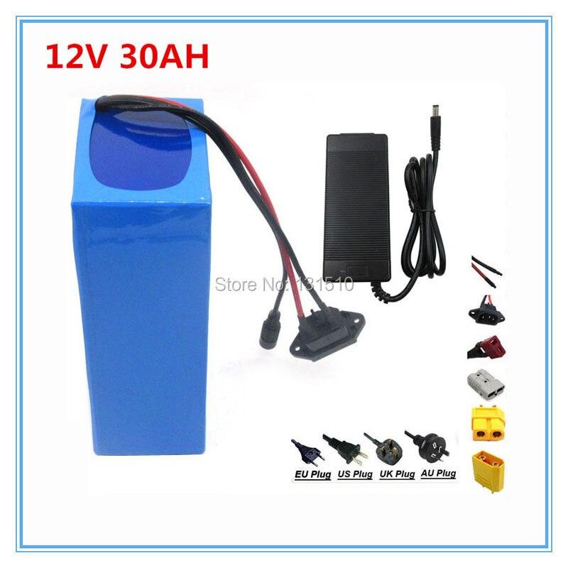 12 v 30ah batterie 12 v 30ah lithium batterie avec 12.6 v 3A Chargeur pour rue lumière/cctv caméra 30A BMS Livraison Gratuite
