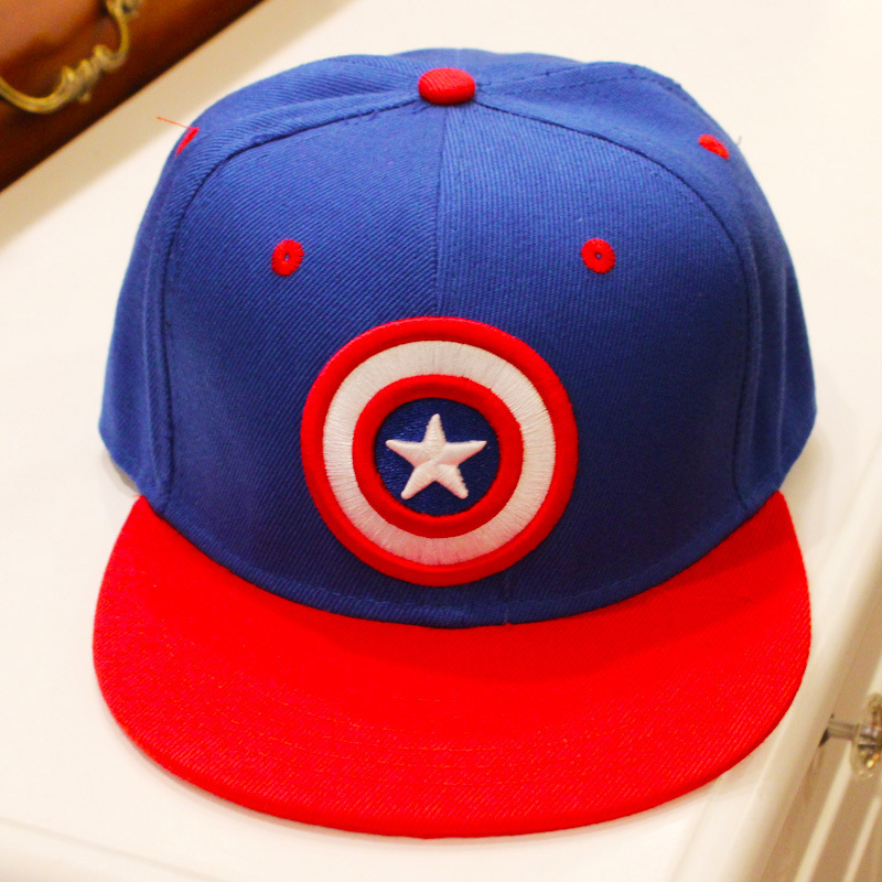10e915b1c70bb Detail Feedback Questions about Marvel The Avengers Captain America hat  trendy canvas Hiphop baseball caps Comfortable Casual creative blue  adjustable ...