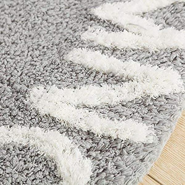 Abc Alphabet tapis de jeu rampant pour enfants-Super doux à tricoter tapis éducatifs lavables rond 120 CM de diamètre - 4