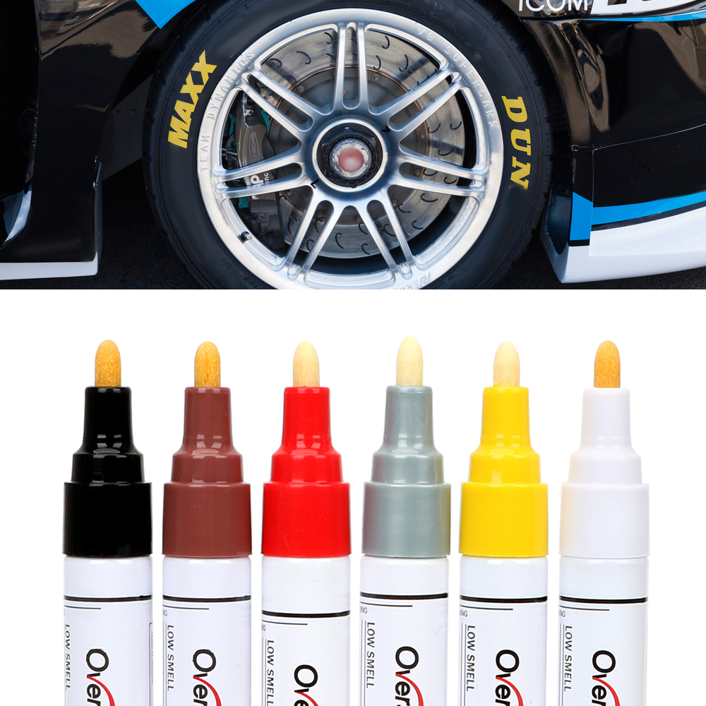 FORAUTO Car Marking Pen For Car Tires Paint Care Auto Painting Pen Car-styling Marker 6 Colors