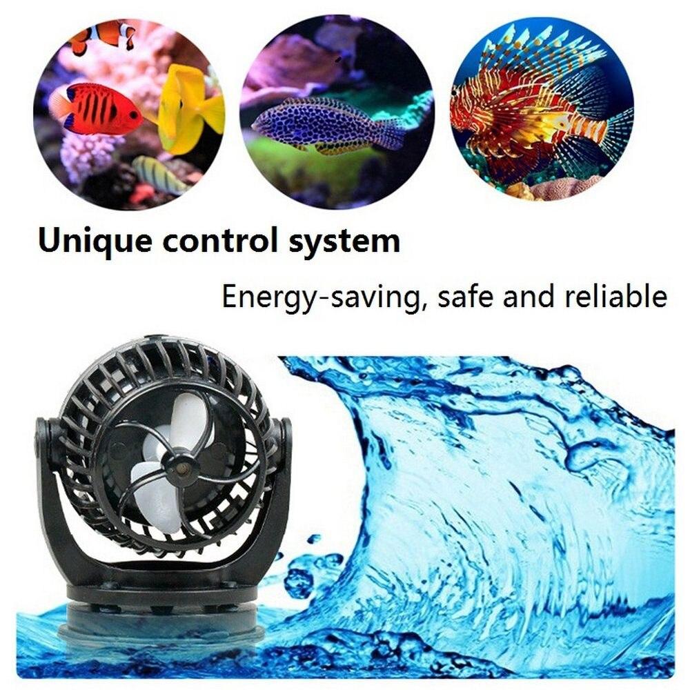 Pompe à eau Aquarium Wavemaker avec contrôleur intelligent pompe à aubes pour les étangs de poissons marins récif Aquarium bombar110 ~ 240V