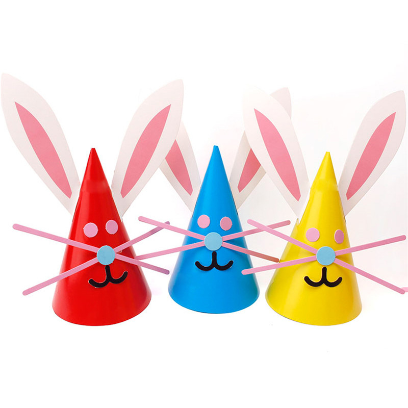 Industrious 5pcs Rabbit Paper Hat Birthday Party Decoration Kids Animal Party Cartoon Hats Boy Girl Childrens Diy Paper Toys Gift Supplies Beautiful In Colour Drone Bags Fish & Aquatic Supplies