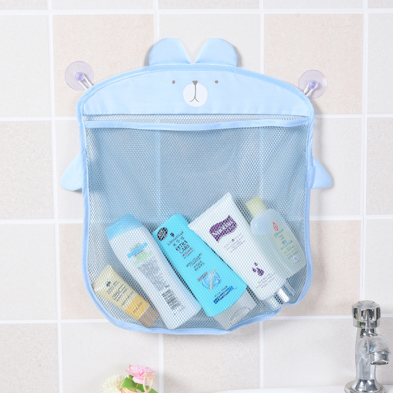 Cartoon Cute Bathroom Hanging Storage Basket Baby Kids Bathing Toy Storage Organizer Waterproof Cloth Sand Toys Bath Organizer