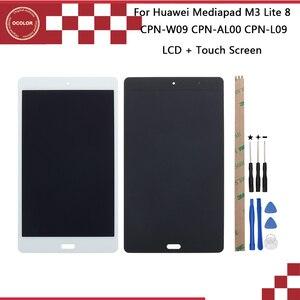 Image 1 - Ocolor dla Huawei Mediapad M3 Lite CPN W09 CPN AL00 CPN L09 wyświetlacz LCD + ekran dotykowy 8 dla Huawei Mediapad M3 Lite + narzędzia + taśma
