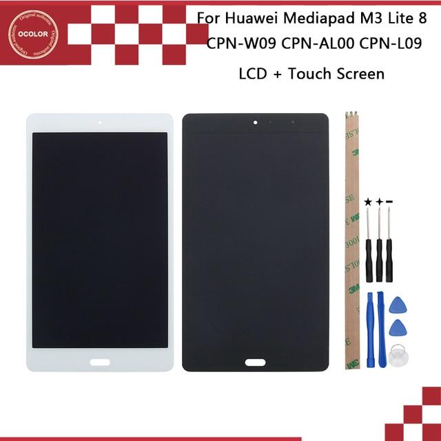 Ocolor dla Huawei Mediapad M3 Lite CPN W09 CPN AL00 CPN L09 wyświetlacz LCD + ekran dotykowy 8 dla Huawei Mediapad M3 Lite + narzędzia + taśma