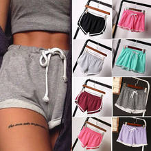 Frauen Sommer Shorts Casual Damen Strand Sommer Shorts Fitness Baumwolle Mischung Shorts Hosen Candy Farbe(China)