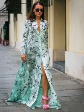 Womens T-Shirt Long Maxi Dress Clubwear Party Print Shirt Summer Boho Sleeve