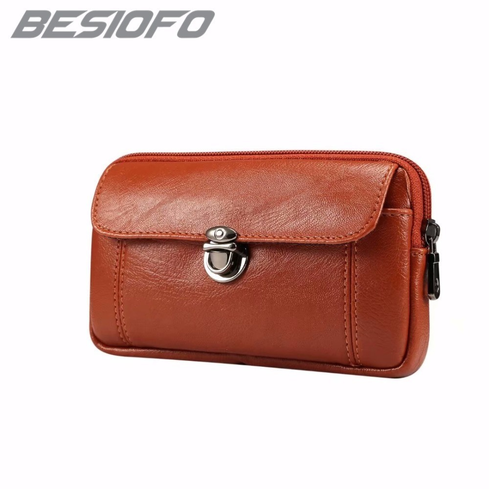 PU Leather <font><b>Phone</b></font> <font><b>Case</b></font> For <font><b>OPPO</b></font> <font><b>F1</b></font> F3 F5 F7 7A R9 R9S R11 R15 R17 Belt Waist Holster Zipper Pouch Bag Double Pockets Cover image
